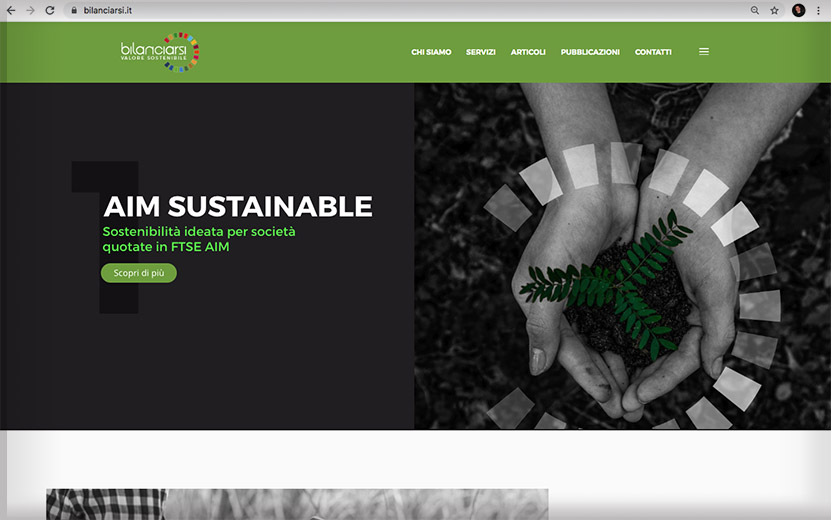 Sito internet Bilanciarsi - valore sostenibile