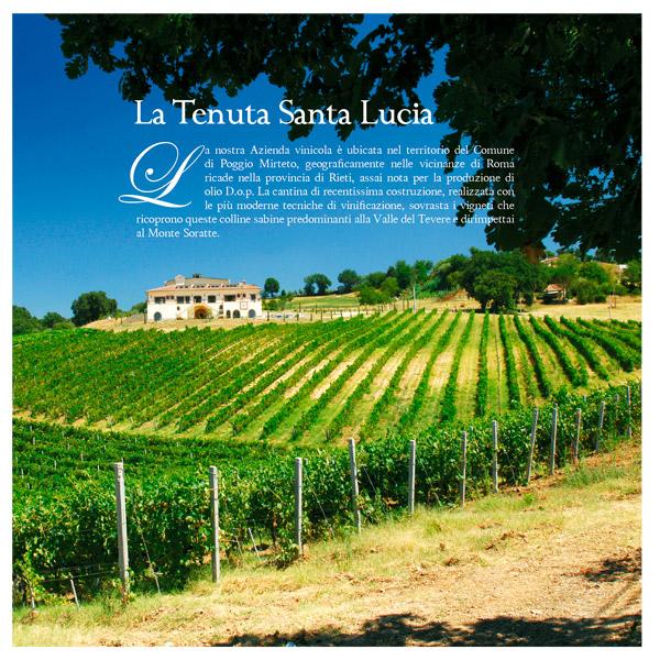 Interno brochure Tenuta Santa Lucia - Poggio Mirteto (Ri)