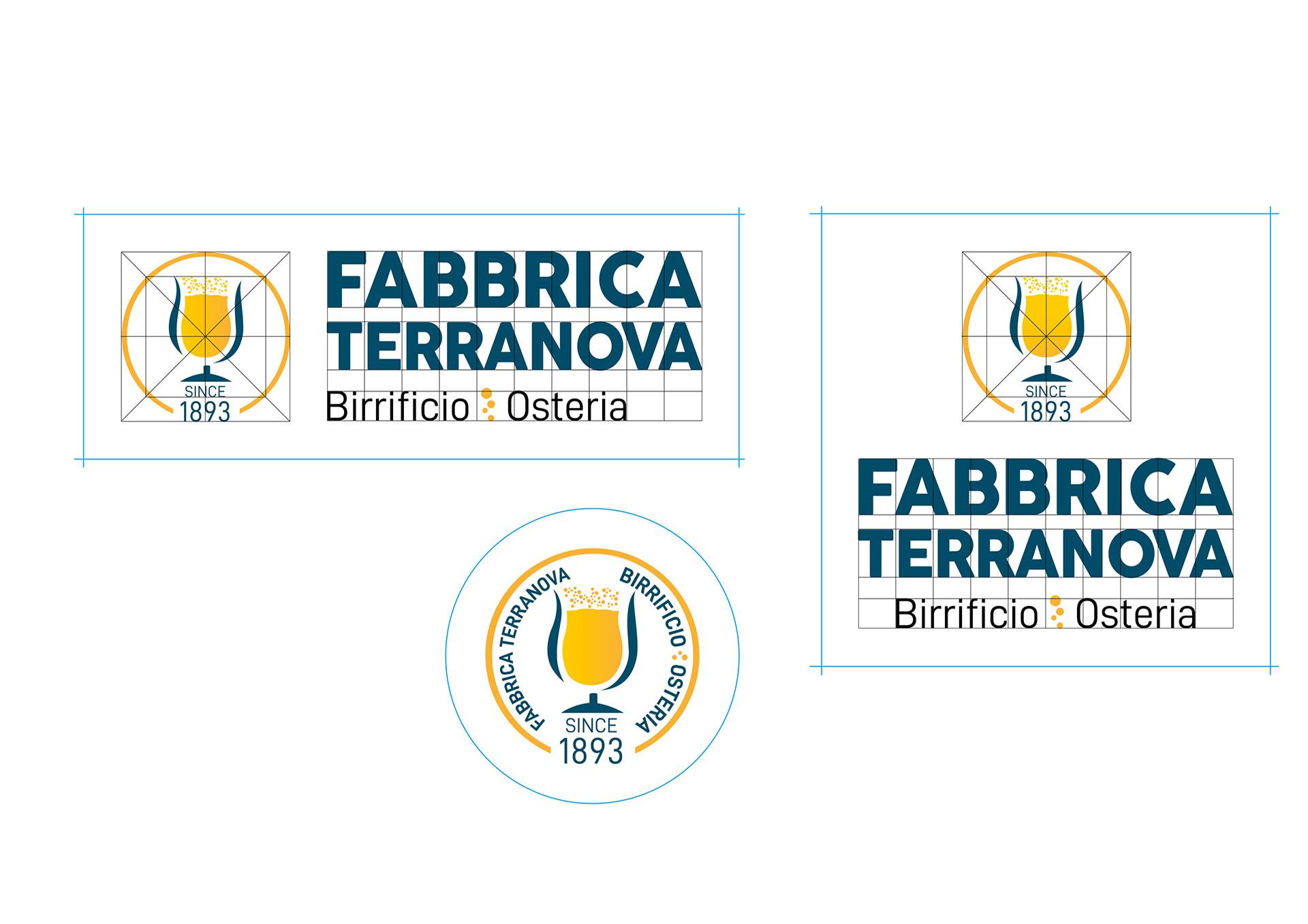 Studio del logo Fabbrica Terranova - Birrificio osteria